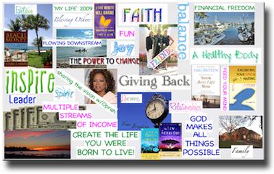 An inspiring vision board