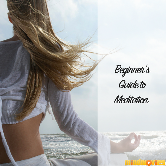 girl meditating by the ocean