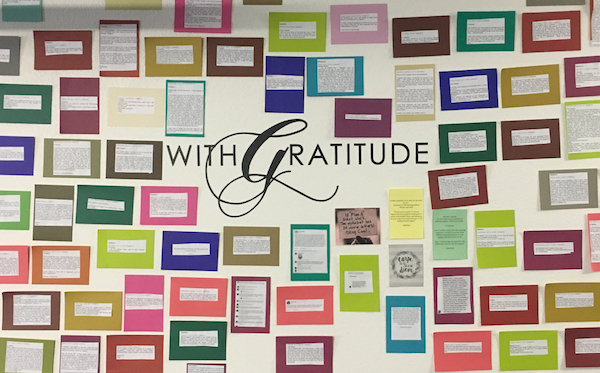 The Mind Movies Gratitude Wall