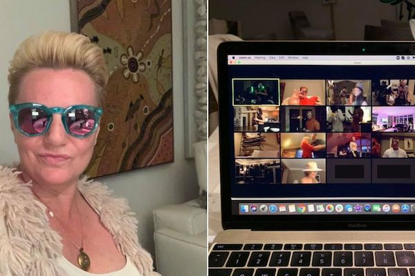 Natalie on Video Chat with Friends
