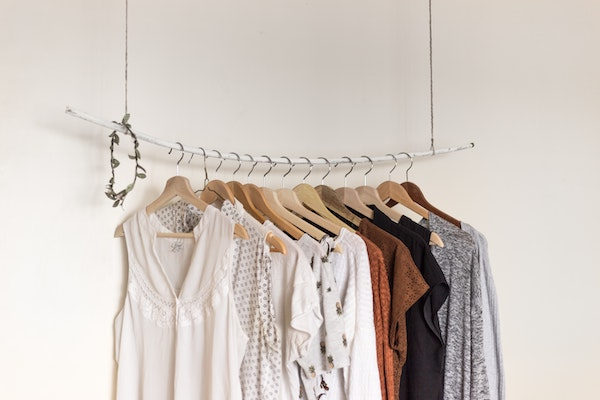 Organized Clothes on Clothing Rack