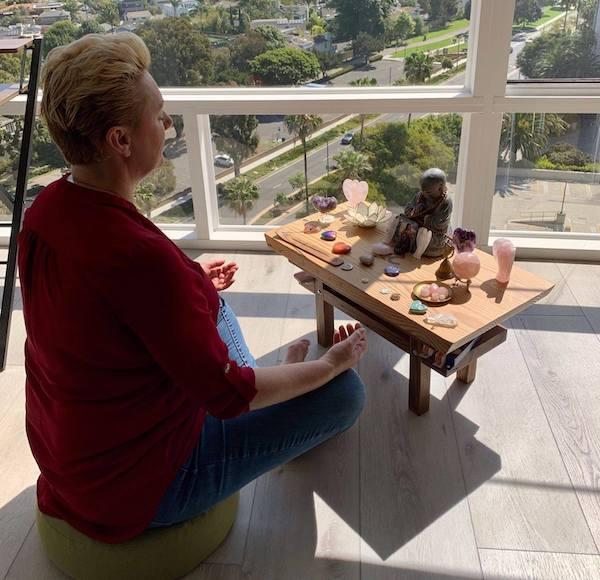 Natalie Meditating