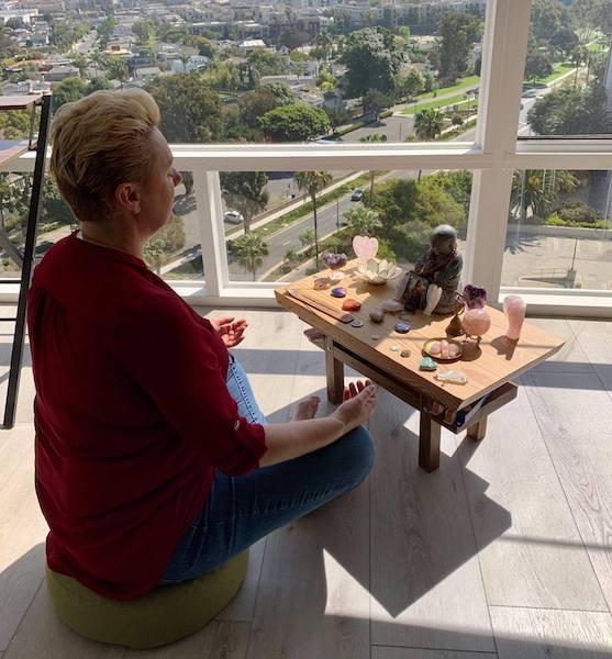 Natalie Ledwell Meditating