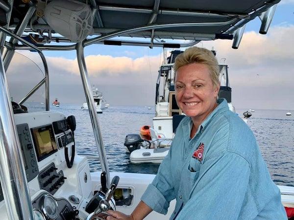Natalie on a Boat