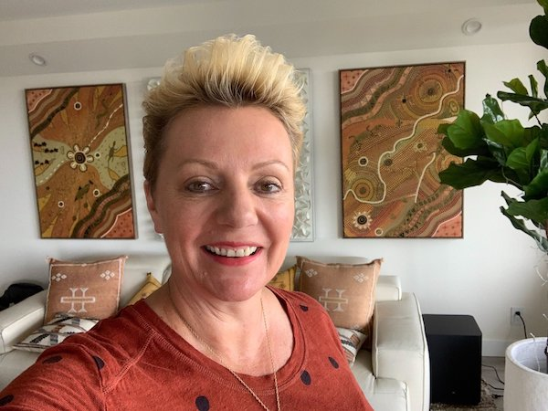 Selfie of Natalie in Her Home