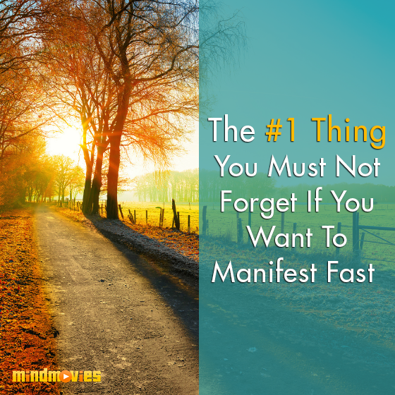The #1 Thing You Must Not Forget If You Want To Manifest Fast